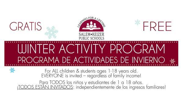 Winter Activity Program for Kids & Teens 2018